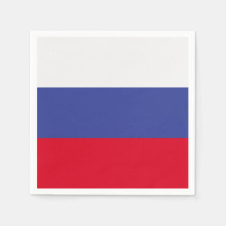 Bandera de Rusia Servilleta De Papel