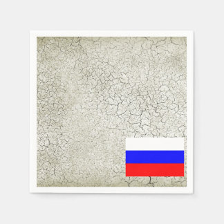 Bandera de Rusia Servilleta Desechable