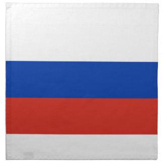 Bandera de Rusia Servilleta Imprimida