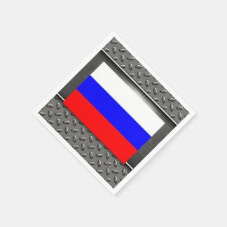 Bandera de Rusia Servilletas Desechables