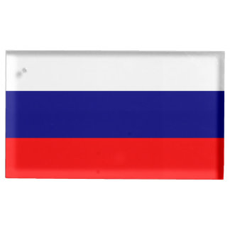 Bandera de Rusia Soportes Para Tarjetas De Mesa