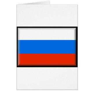 Bandera de Rusia Tarjeta De Felicitación