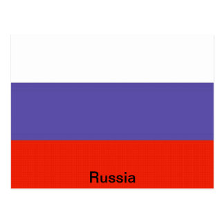 Bandera de Rusia Tarjeta Postal