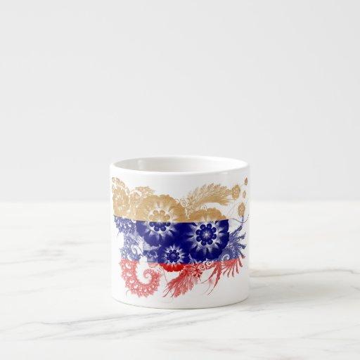 Bandera de Rusia Taza Espresso