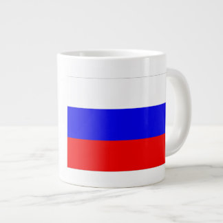 Bandera de Rusia Taza Grande