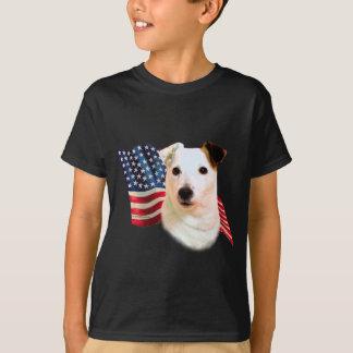 Bandera de Russell Terrier del párroco Playera