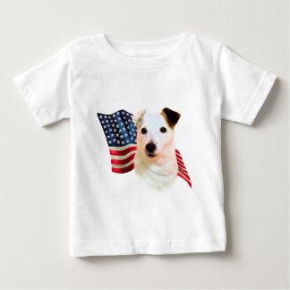Bandera de Russell Terrier del párroco Playera De Bebé