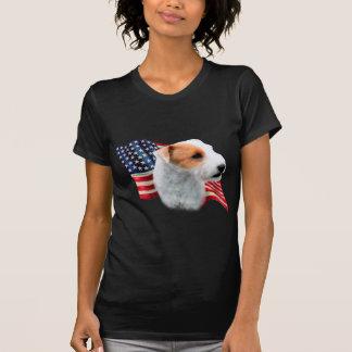 Bandera de Russell Terrier del párroco (roto) Playera