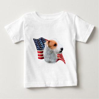 Bandera de Russell Terrier del párroco (roto) Playera De Bebé