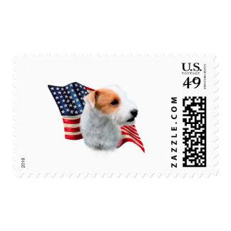 Bandera de Russell Terrier del párroco (roto) Sello