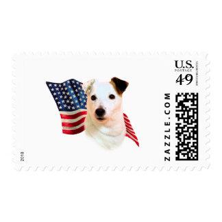 Bandera de Russell Terrier del párroco Sellos