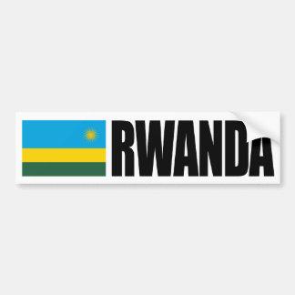 Bandera de Rwanda Pegatina De Parachoque