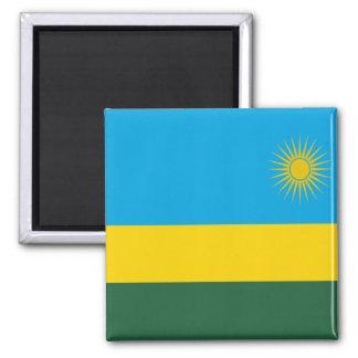 Bandera de Rwanda Imán Cuadrado