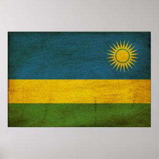 Bandera de Rwanda Poster