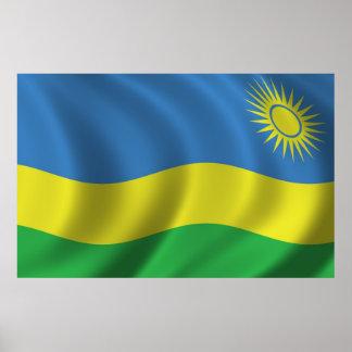Bandera de Rwanda Posters