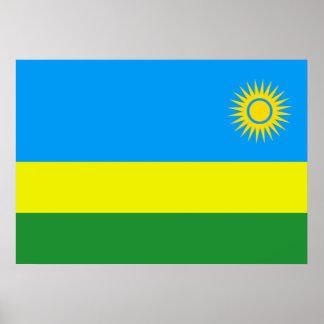 Bandera de Rwanda Impresiones