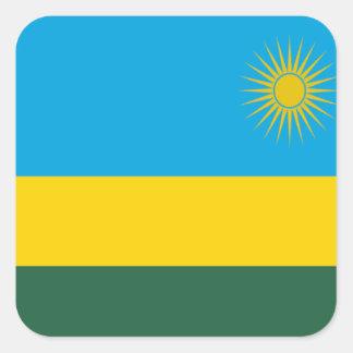 Bandera de Rwanda Pegatina Cuadrada