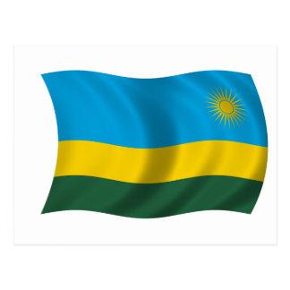 Bandera de Rwanda Tarjetas Postales
