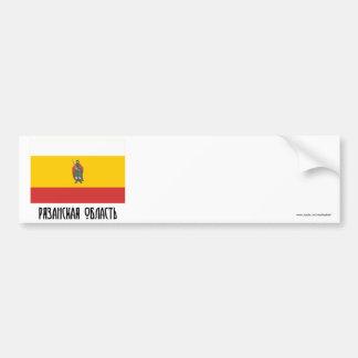 Bandera de Ryazan Oblast Pegatina Para Auto