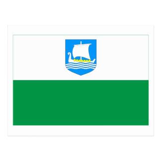 Bandera de Saare Tarjeta Postal