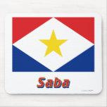 Bandera de Saba con nombre Alfombrilla De Ratones