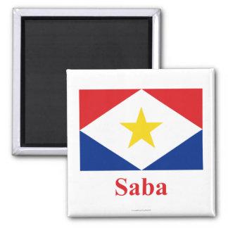 Bandera de Saba con nombre Imán