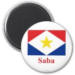Bandera de Saba con nombre Iman Para Frigorífico
