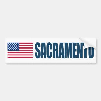 Bandera de Sacramento los E.E.U.U. Pegatina Para Auto