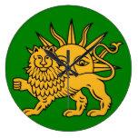 Bandera de Safavid Reloj De Pared