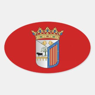 Bandera de Salamanca España Pegatinas Ovaladas