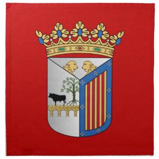 Bandera de Salamanca (España) Servilletas Imprimidas