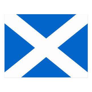 Bandera de Saltire del escocés de la postal de Esc