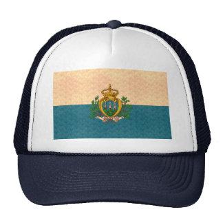 Bandera de Sammarinese del modelo del vintage Gorro De Camionero