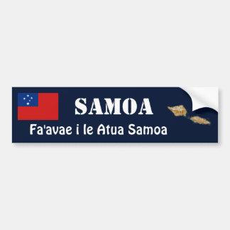 Bandera de Samoa + Pegatina para el parachoques Pegatina Para Auto
