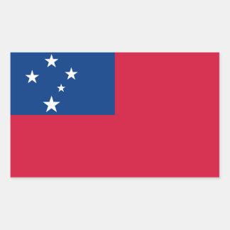 Bandera de Samoa Pegatina Rectangular