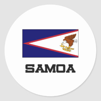 Bandera de Samoa Pegatina Redonda