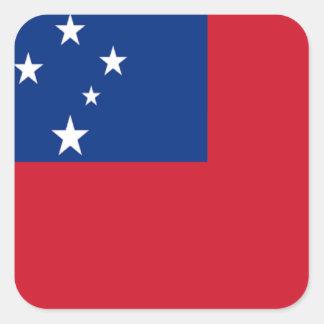 Bandera de Samoa Calcomanía Cuadradas Personalizadas