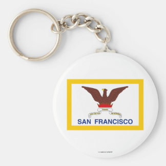 Bandera de San Francisco Llavero Personalizado