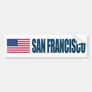 Bandera de San Francisco los E.E.U.U. Pegatina Para Auto