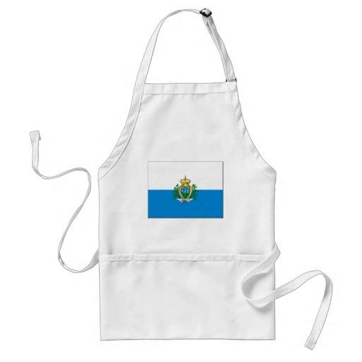 Bandera de San Marino Delantal