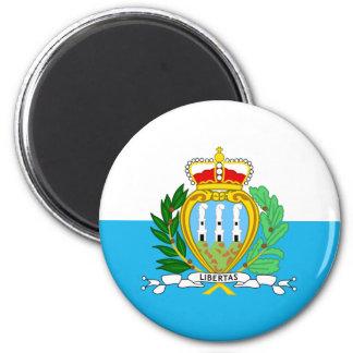 Bandera de San Marino Imán Para Frigorifico