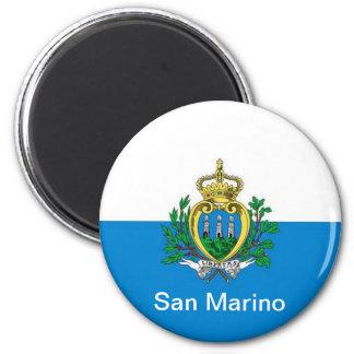 bandera de San Marino Imán Redondo 5 Cm