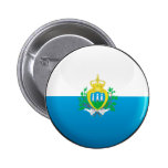 Bandera de San Marino Pin Redondo 5 Cm