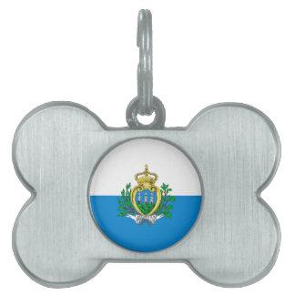 Bandera de San Marino Placa De Mascota