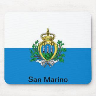 bandera de San Marino Tapete De Ratón