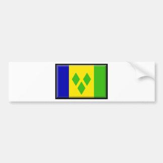 Bandera de San Vicente y las Granadinas Pegatina Para Auto