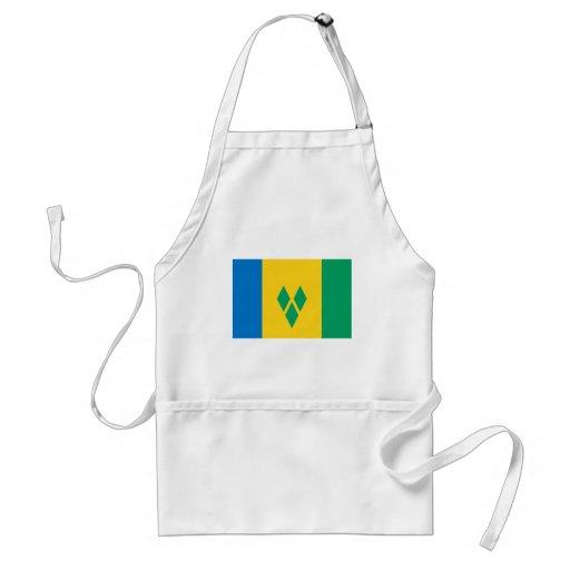 Bandera de San Vicente y las Granadinas Delantal
