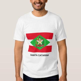 Bandera de Santa Catarina, el Brasil Playeras