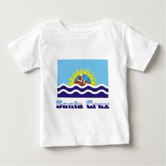 Bandera de Santa Cruz con nombre T-shirt