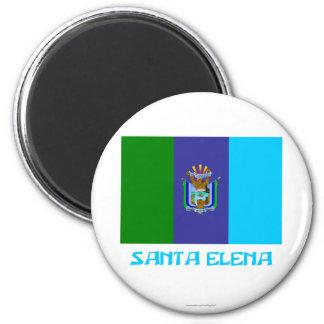 Bandera de Santa Elena con nombre Iman De Frigorífico